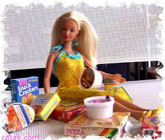 barbie con cioccolatini